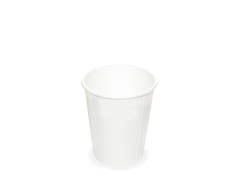 Papírový kelímek - espresso 110 ml, bílý, 50 ks