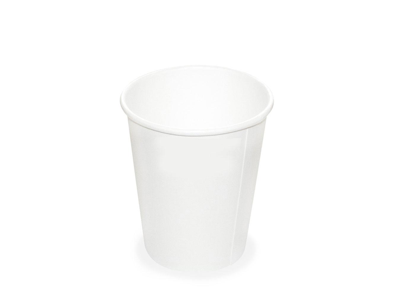 Papírový kelímek - lungo 200 ml, bílý, 50 ks
