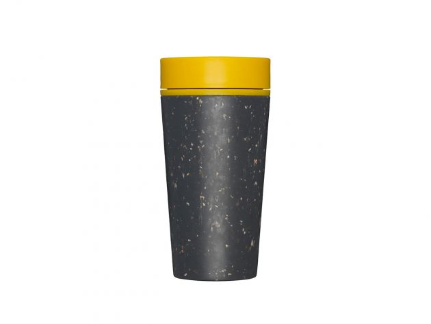 Kelímek rCUP Black and Mustard 340 ml