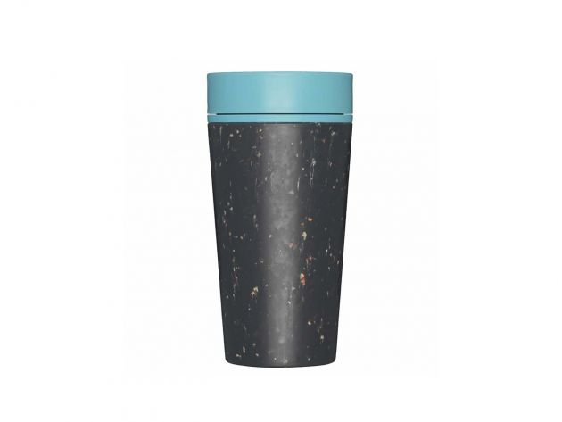 Kelímek rCUP Black and Teal 340 ml